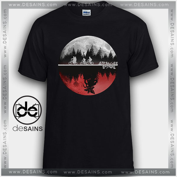 Cheap Graphic Tee Shirts Stranger Things Moon Upside Down