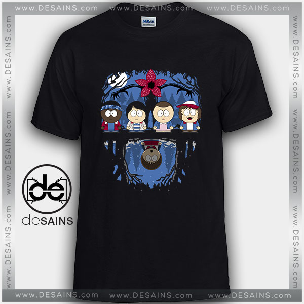 Cheap Graphic Tee Shirts Stranger Things South Park Tshirt on sale