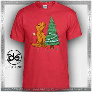 Cheap Graphic Tee Shirts The Struggle Trex Hates Christmas on Sale