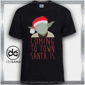 Cheap Graphic Tee Shirts Yoda Santa Claus Star Wars Tshirt
