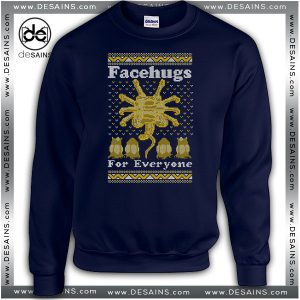 Cheap Graphic Ugly Christmas Sweatshirt Face Hugs For Everyone
