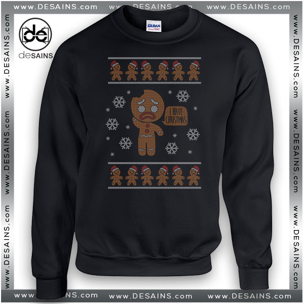 Cheap Graphic Ugly Sweatshirt I Hate Christmas Sweater on Sale