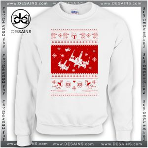 Cheap Graphic Ugly Sweatshirt Nerd Pixel Christmas Star Wars