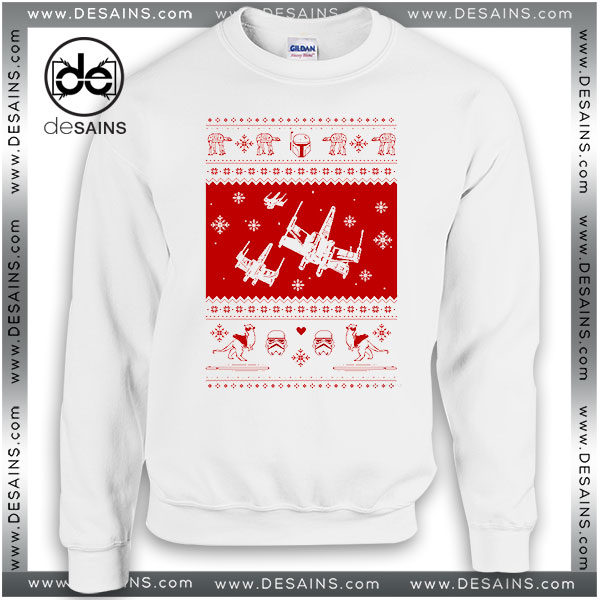 Cheap Graphic Ugly Sweatshirt Nerd Pixel Christmas Star Wars