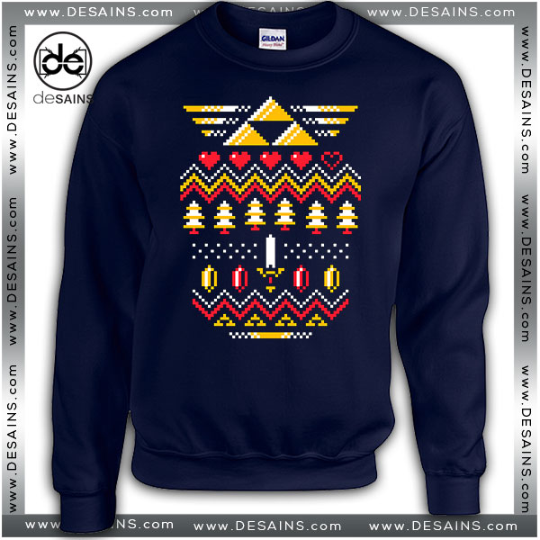 Cheap Graphic Ugly Sweatshirt Triforce Zelda Christmas Sweater Holiday