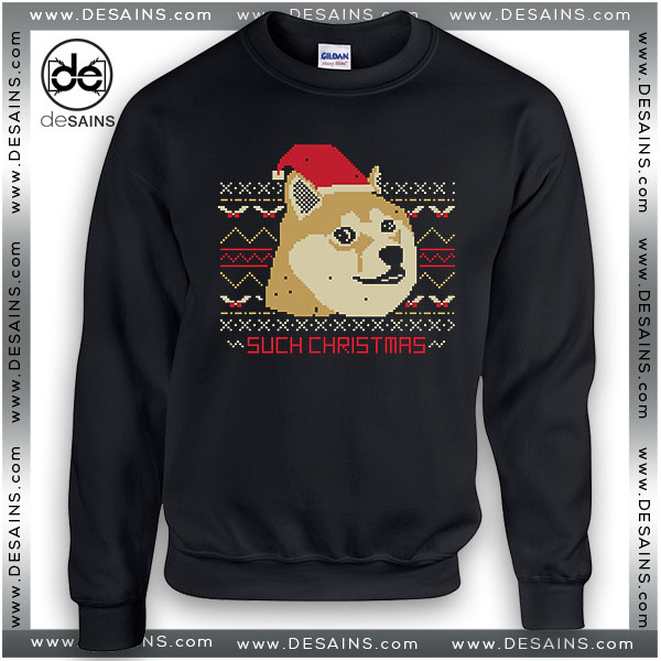 Cheap Ugly Graphic Sweatshirt Such Christmas Sweater Size S-3XL