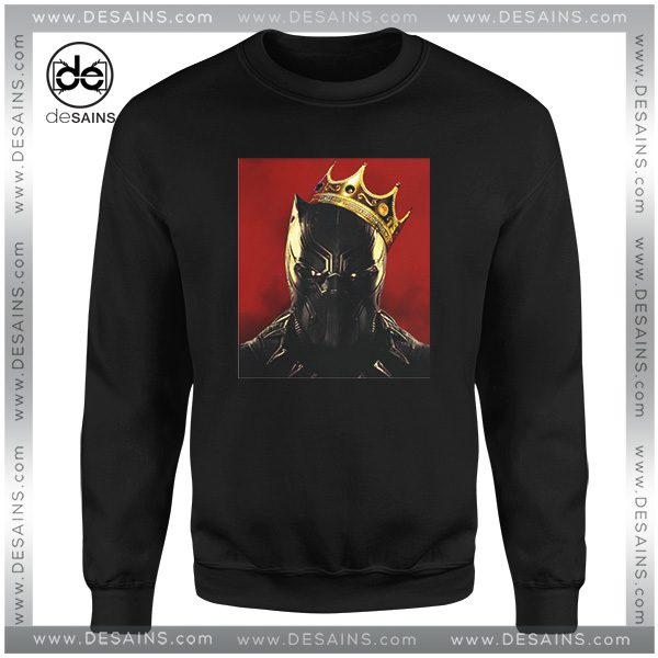 Cheap Graphic Sweatshirt Black Panther The Notorious BIG on Sale