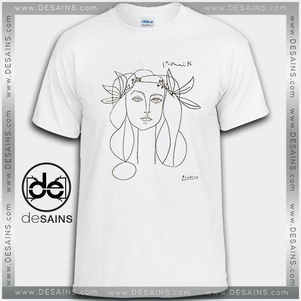 Cheap Graphic Tee Shirts Picasso Woman Francoise Gilot Sketch