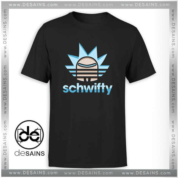 Buy Tshirt Rick Morty Schwifty Adidas Logo Cheap Graphic