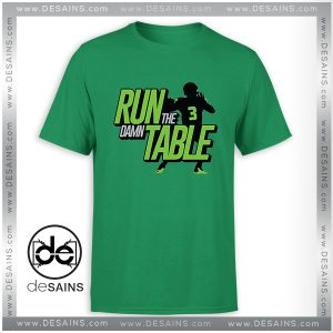 Cheap Graphic Tee Shirts Run the Damn Table Tshirt Size S-3XL