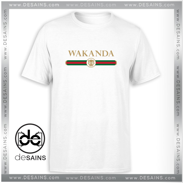 7cc088233e4b Tshirt Wakanda Logo Gucci Black Panther – Cheap Graphic Tee Shirts