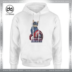 Cheap Graphic Hoodie Catvengers Cat Captain America