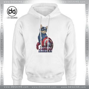 Cheap Graphic Hoodie Catvengers Cat Captain America