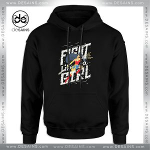 Cheap Graphic Hoodie Fight like a girl Wonder Woman