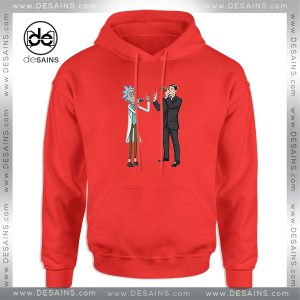 Cheap Graphic Hoodie Funny Rick And Archer With Drink Wine