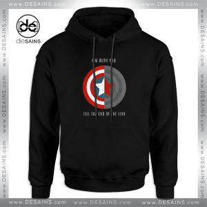 Cheap Graphic Hoodie Im With You Till The End Of The Line