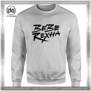 Cheap Graphic Sweatshirt Bebe Rexha Logo Art Size S-3XL