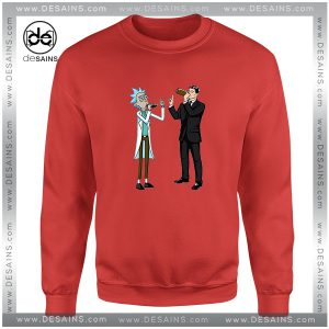 Cheap Graphic Sweatshirt Funny Rick And Archer With Drink Wine Size S-3XL