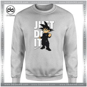 Cheap Graphic Sweatshirt Goku Just Do it Dragon Ball