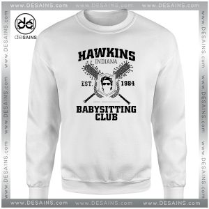 Cheap Graphic Sweatshirt Hawkins Babysitting Club Inspired by Stranger Things