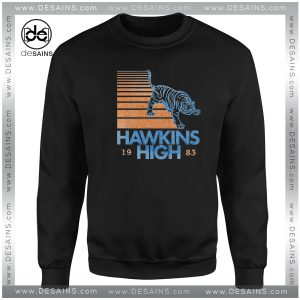 Cheap Graphic Sweatshirt Hawkins High Stranger Things