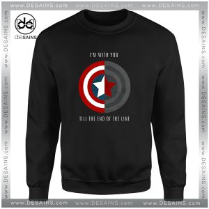 Cheap Graphic Sweatshirt Im With You Till The End Of The Line