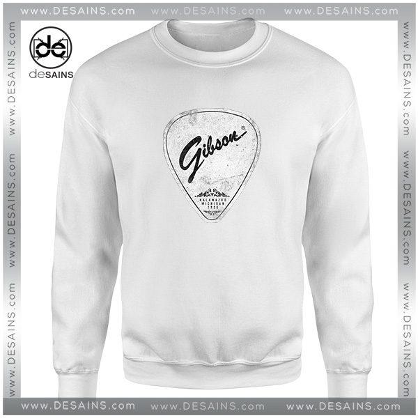 Cheap Graphic Sweatshirt Legendary Guitar Pick Mashup Gibson