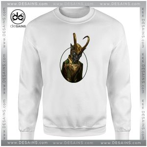 Cheap Graphic Sweatshirt Lokitty Funny Loki Marvel Avengers