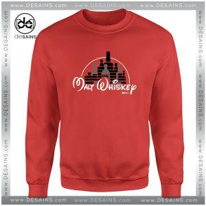 Cheap Graphic Sweatshirt Malt Whiskey not Walt Disney