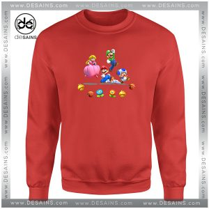 Cheap Graphic Sweatshirt Mario And Friends Characters