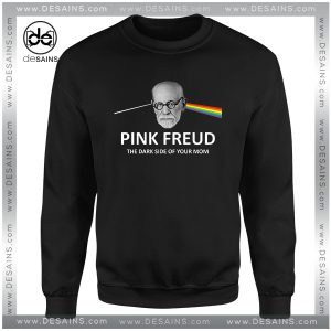 Cheap Graphic Sweatshirt Pink Freud Dark Side Of Your Mom