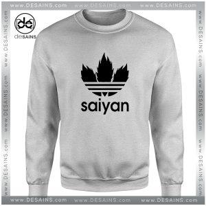 Cheap Graphic Sweatshirt Saiyan Dragon Ball Adidas Logo Parody