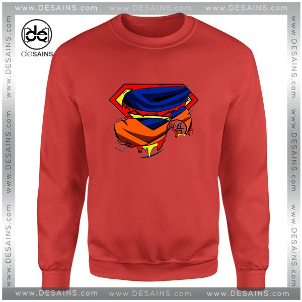 Cheap Graphic Sweatshirt Super Goku Superman Logo Size S-3XL