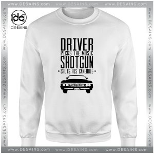 Cheap Graphic Sweatshirt Supernatural Driver Picks The Music Shotgun Shuts