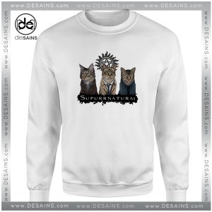 Cheap Graphic Sweatshirt Supurrnatural Cat Supernatural TV Series
