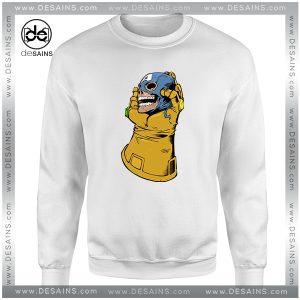 Cheap Graphic Sweatshirt Thanos Kill Captain America