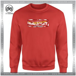 Cheap Graphic Sweatshirt The Bravest Captain America