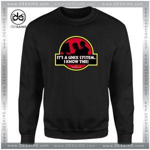 Cheap Graphic Sweatshirt Unix System Park Jurassic Park Logo