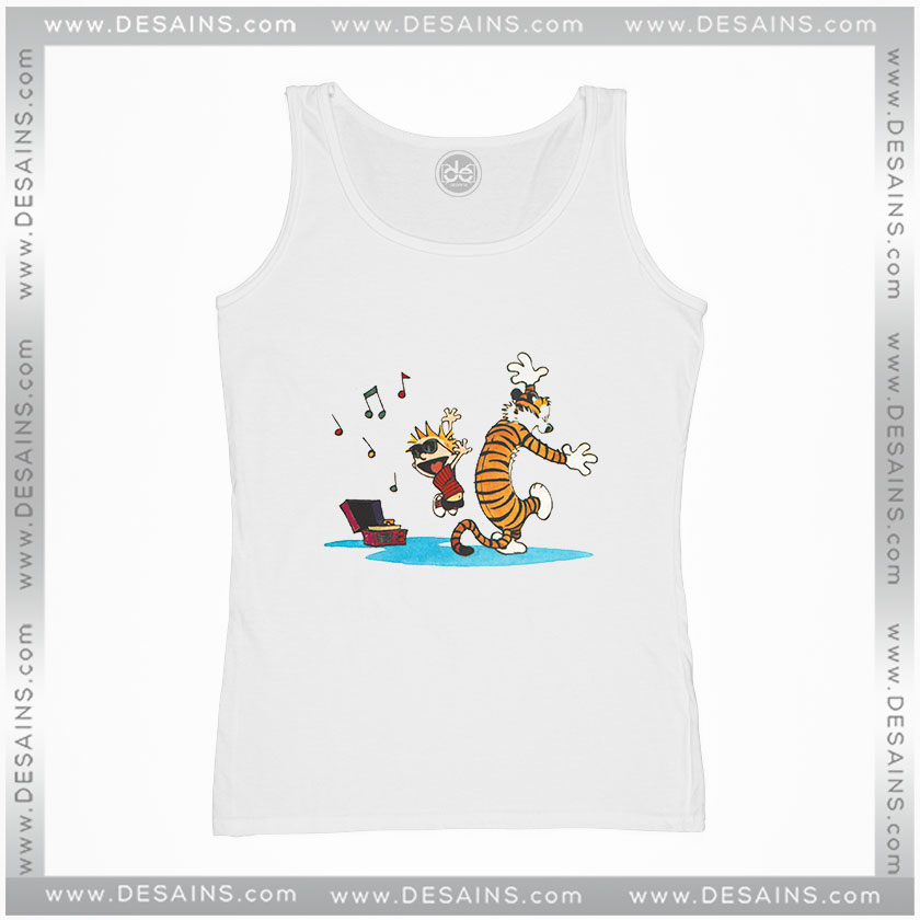 4ada36e62d7b Cheap Graphic Tank Top Calvin and Hobbes Dance and Happy