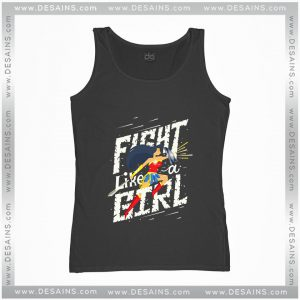 Cheap Graphic Tank Top Fight like a girl Wonder Woman