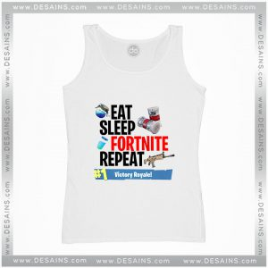 Cheap Graphic Tank Top Fortnite Eat Sleep Fortnite Repeat