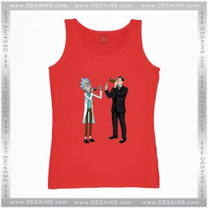 Cheap Graphic Tank Top Funny Rick And Archer With Drink Wine