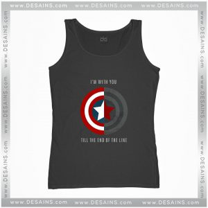 Cheap Graphic Tank Top Im With You Till The End Of The Line