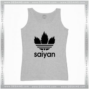 Cheap Graphic Tank Top Saiyan Dragon Ball Adidas Logo Parody