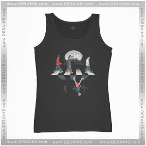 Cheap Graphic Tank Top Stranger Things Upside Down Abbey Road