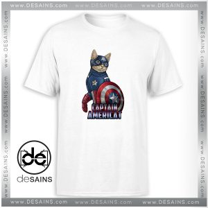 Cheap Tee Shirt Catvengers Cat Captain America Tshirt Size S-3XL