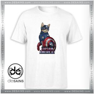 Cheap Tee Shirt Catvengers Cat Captain America Tshirt Size S-3XL