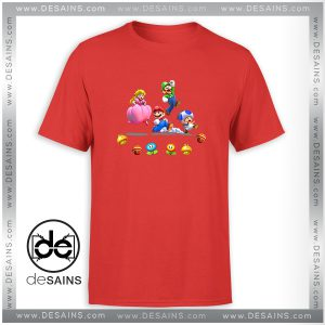 Cheap Tee Shirt Mario And Friends Characters Tshirt Size S-3XL