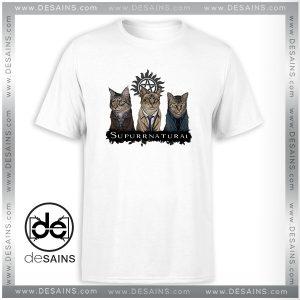 Cheap Tee Shirt Supurrnatural Cat Supernatural TV Series Tshirt Size S-3XL