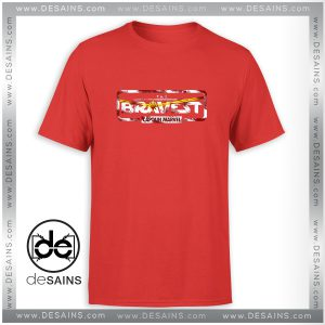 Cheap Tee Shirt The Bravest Captain America Tshirt Size S-3XL